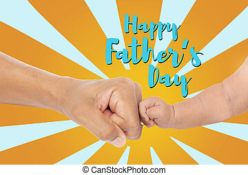 Happy fathers day fist bump