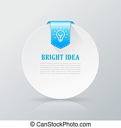 Bright idea info card illustration