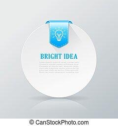 Bright idea info card illustration