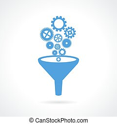Abstract technical icon - Abstract technical vector icon