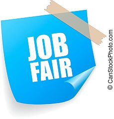 Job fair sticker isolated on white background