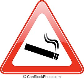 Cigarette caution icon