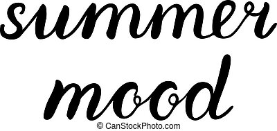 Summer mood lettering. Brush hand lettering. Great for beach...