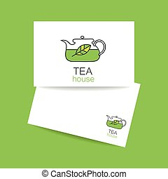 tea_house_logo - Tea house. Concept business card design for...