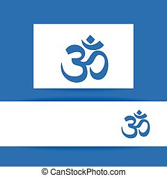 om sign template - Om - hinduism symbol Concept identity...