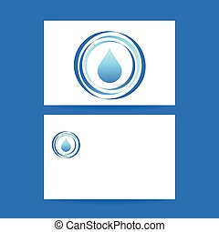 aqua water drop template