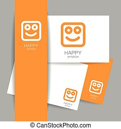 happy emotion template - Happy logo template. Concept...