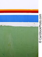 sailboat boat antifouling and side color lines