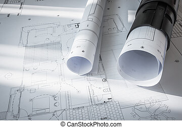 Construction plans of architectural project - Construction...