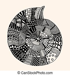 Shell with abstract pattern. - Sea Shell with abstract...