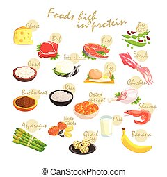 Food Rich In Proteins Poster - Food Rich In Proteins...