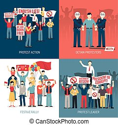 People At Demonstration Concept - People at demonstration...