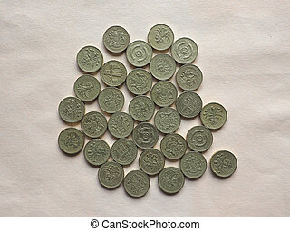 GBP Pound coins - British Pound coins currency of the United...