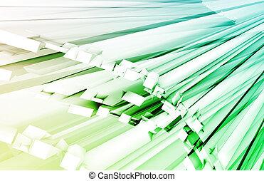 Fiber Optics - Blue Green Fiber Optics Technology as Concept