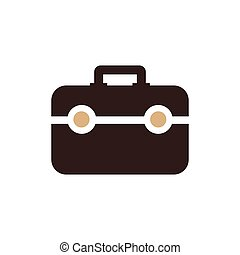 Bag Flat icon and Logo design brown color