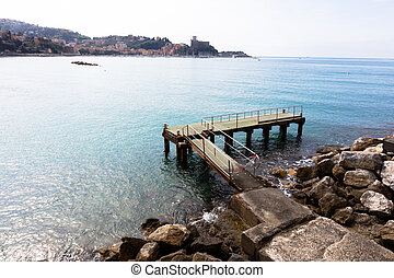 Lerici, Italy view of port - Lerici, Italy - April 4, 2016:...