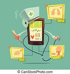 Mobile Online Health Diagnostic Concept - Mobile online...