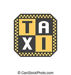 Taxi, cab vector logo