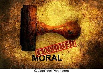 Censored moral grunge concept