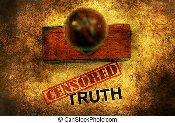 Censored truth grunge concept