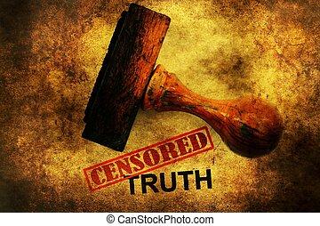 Censored truth grunge concept