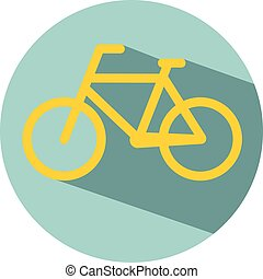 Bicycle icon flat design vector eps 10
