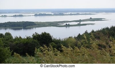 Dnepr river panorama. View from Vitachiv village. - Dnepr...