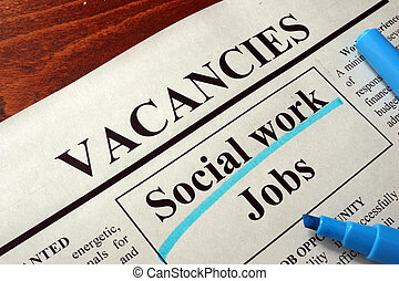 ads social work jobs vacancy - Newspaper with ads social...