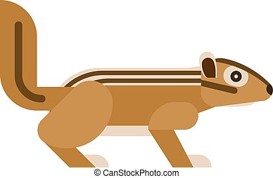 Chipmunk vector illustration. - Chipmunk isolated on white...