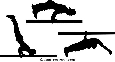 street workout isolated on white background, vector