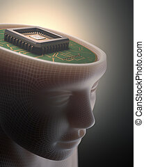 Artificial Intelligence - Microchip in place of the human...