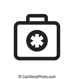 medical kit icon Medical and health care concept Vector...