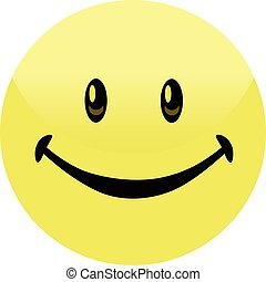 Happy Smiley Face Button Badge