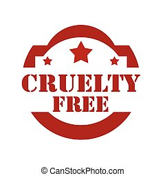 Cruelty Free-stamp - Red stamp with text Cruelty Free,vector...