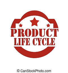 Product Life Cycle - Stamp with text Product Life...