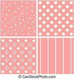 Vector set of four patterns.