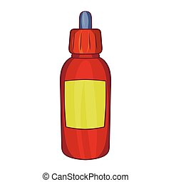 Refill bottle with pipette icon, cartoon style - Refill...