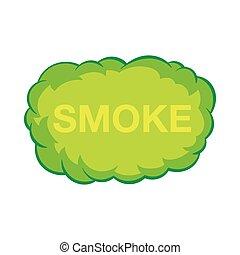 Smoke cloud icon in cartoon style