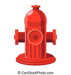 Fire hydrant icon in cartoon style on a white background