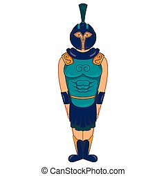 Ancient Egyptian warrior icon, cartoon style - Ancient...