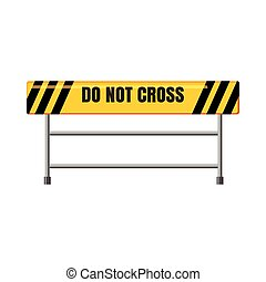 Do not cross traffic barrier icon, cartoon style - Do not...