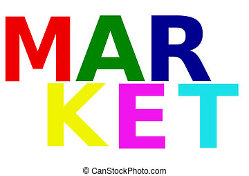 colorful word Market