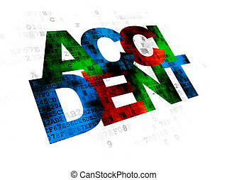 Insurance concept: Accident on Digital background -...