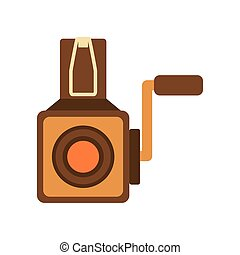 videocamera icon Retro Technology design Vector graphic -...