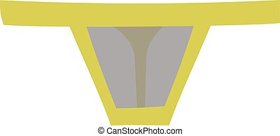 Thong underpants vector illustration. - Fashion colorful...