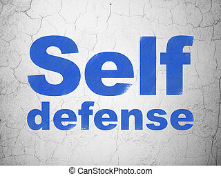 Security concept: Self Defense on wall background - Security...