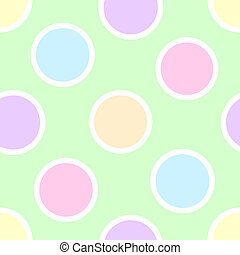 Pastel Polka Dots - An illustration of pastel polka dots