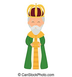 Wise man icon Merry Christmas design Vector graphic - Merry...