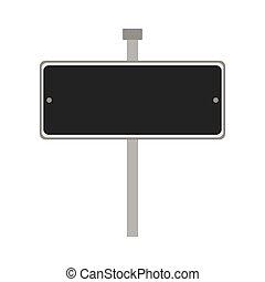 Road sign icon. Way design. Vector graphic - Way concept...