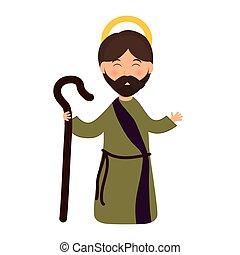 Joseph icon Merry Christmas design Vector graphic - Merry...
